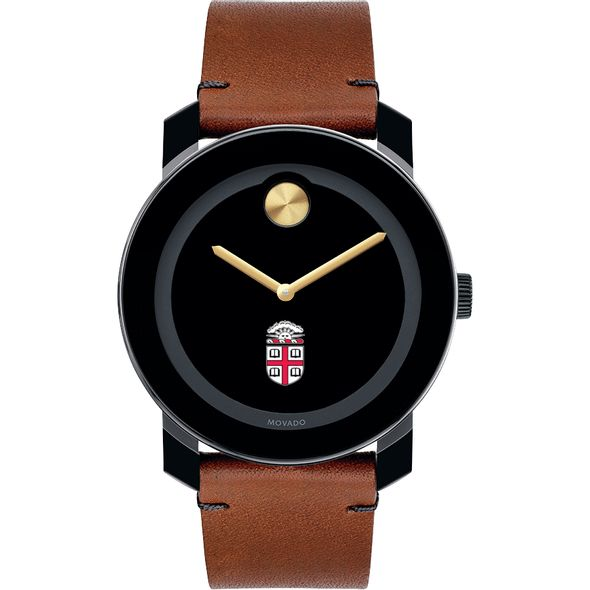 Brown Men's Movado BOLD with Brown Leather Strap - Image 2