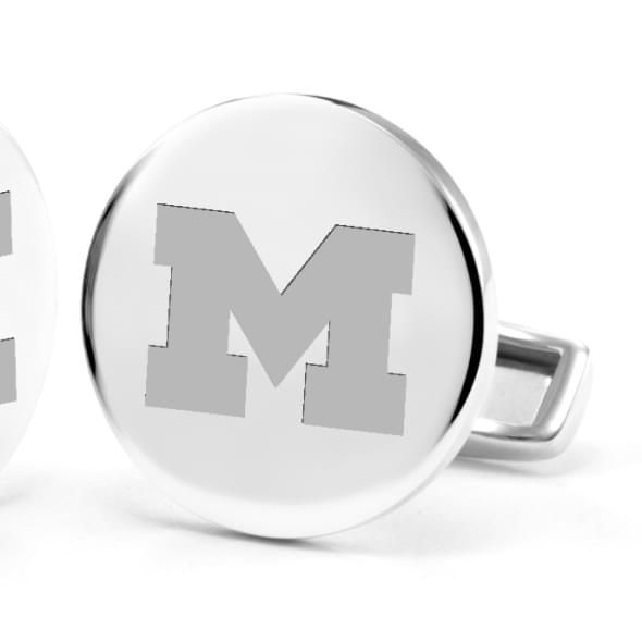 University of Michigan Cufflinks in Sterling Silver - Image 2