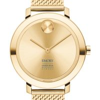 Emory Goizueta Women's Movado Bold Gold with Mesh Bracelet