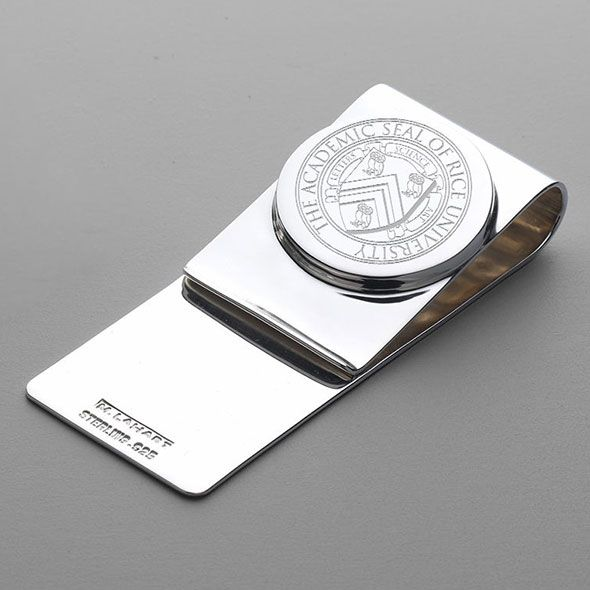 Rice University Sterling Silver Money Clip