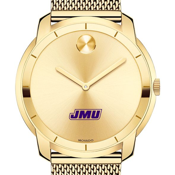 James Madison University Men's Movado Gold Bold 44