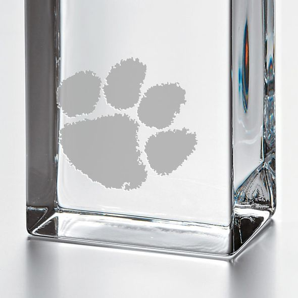 Clemson Tall Glass Desk Clock  by Simon Pearce - Image 2