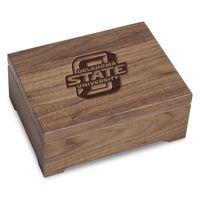 Oklahoma State University Solid Walnut Desk Box