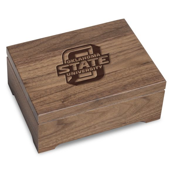Oklahoma State University Solid Walnut Desk Box