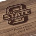 Oklahoma State University Solid Walnut Desk Box - Image 2