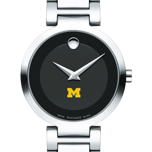 University of Michigan Women's Movado Museum with Steel Bracelet