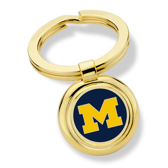 University of Michigan Enamel Key Ring
