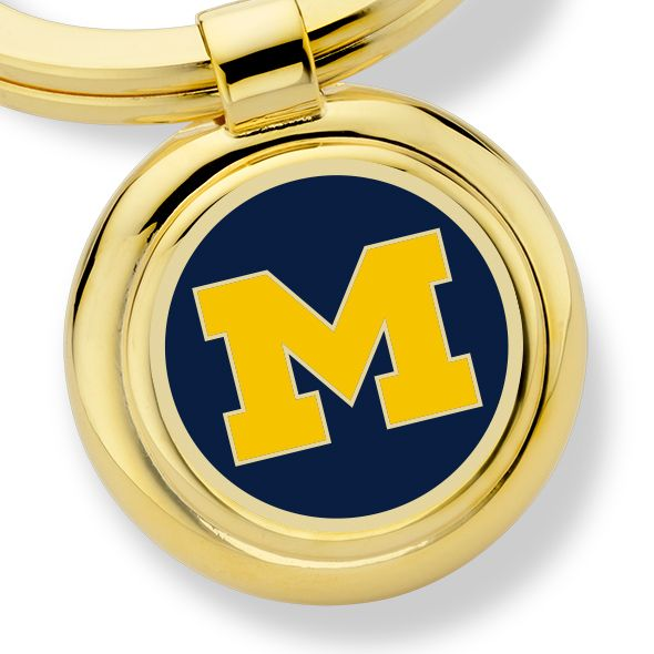 University of Michigan Enamel Key Ring - Image 2