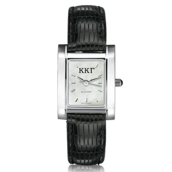 KKG Women's Mother of Pearl Quad Watch with Leather Strap