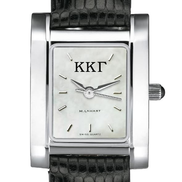 KKG Women's Mother of Pearl Quad Watch with Leather Strap - Image 2