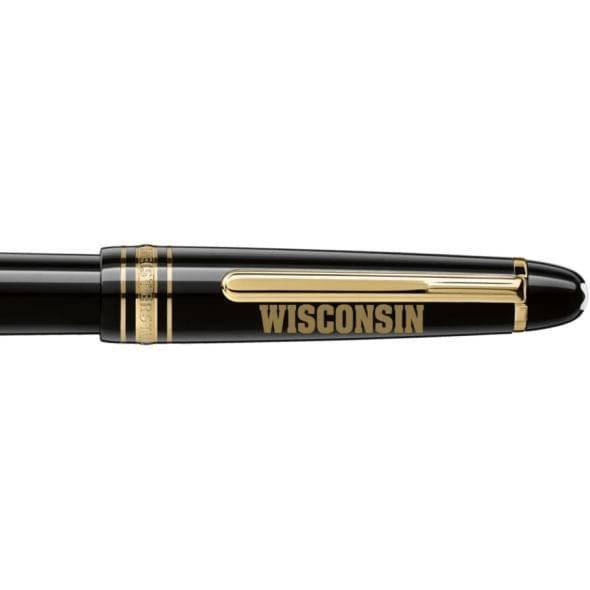 Wisconsin Montblanc Meisterstück Classique Fountain Pen in Gold - Image 2