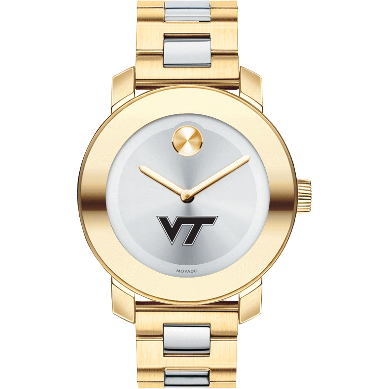 Virginia Tech Women's Movado Two-Tone Bold - Image 2