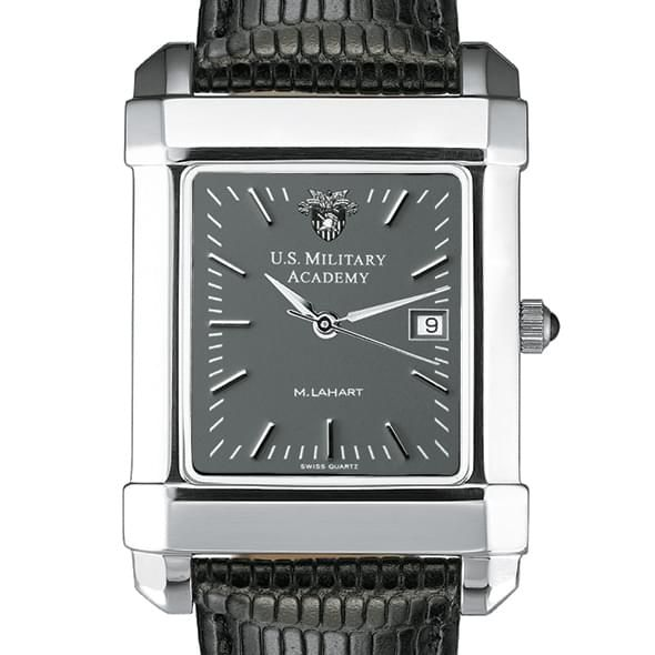West Point Men's Gray Quad Watch with Leather Strap - Image 1