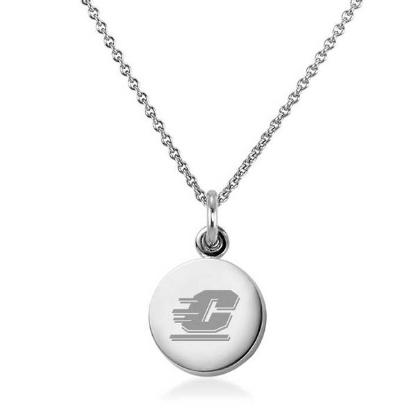 Central Michigan Necklace with Charm in Sterling Silver
