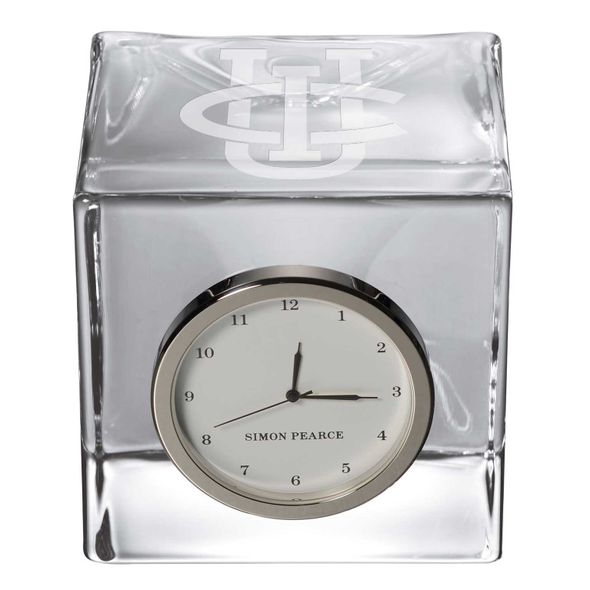 UC Irvine Glass Desk Clock by Simon Pearce - Image 2
