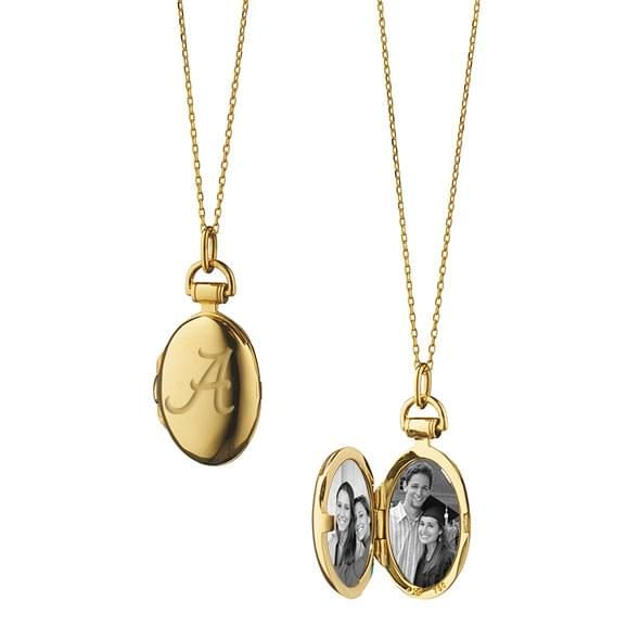 Alabama Monica Rich Kosann Petite Locket in Gold - Image 1