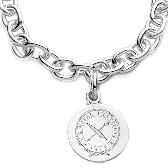 USNI Sterling Silver  Charm Bracelet - Image 2