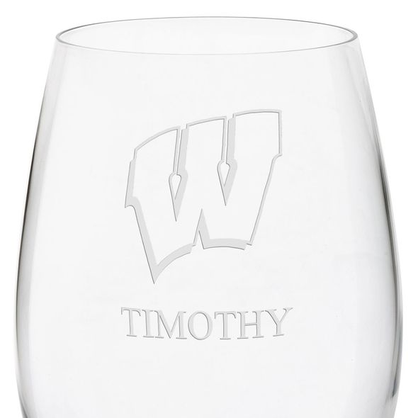Wisconsin Red Wine Glasses - Set of 4 - Image 3