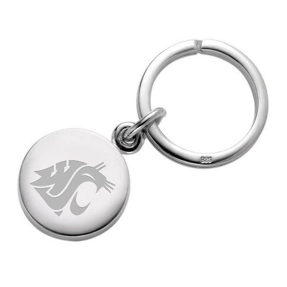 Washington State University Sterling Silver Insignia Key Ring