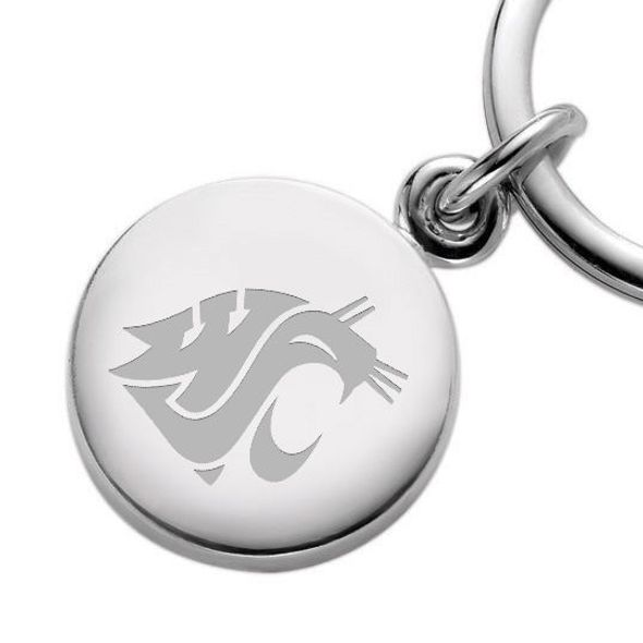 Washington State University Sterling Silver Insignia Key Ring - Image 2