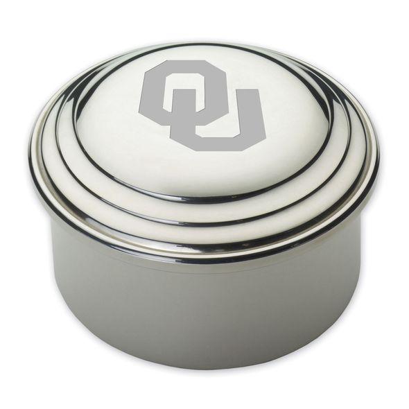 Oklahoma Pewter Keepsake Box