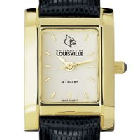 University of Louisville Women's Gold Quad with Leather Strap