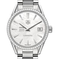 Emory Goizueta Women's TAG Heuer Steel Carrera with MOP Dial & Diamond Bezel