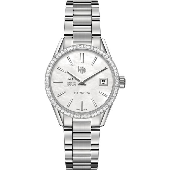 Emory Goizueta Women's TAG Heuer Steel Carrera with MOP Dial & Diamond Bezel - Image 2