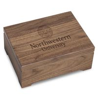 Northwestern University Solid Walnut Desk Box