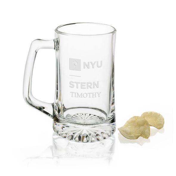 NYU Stern 25 oz Beer Mug - Image 1