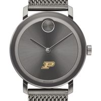 Purdue University Men's Movado BOLD Gunmetal Grey with Mesh Bracelet