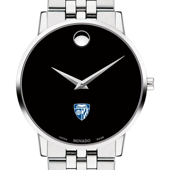 Johns Hopkins University Men's Movado Museum with Bracelet