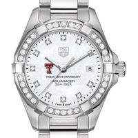 Texas Tech W's TAG Heuer Steel Aquaracer with MOP Dia Dial & Bezel