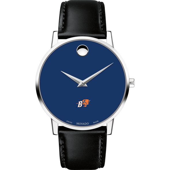 Bucknell University Men's Movado Museum with Blue Dial & Leather Strap - Image 2