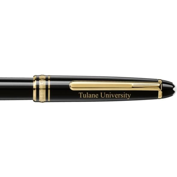 Tulane University Montblanc Meisterstück Classique Rollerball Pen in Gold - Image 2