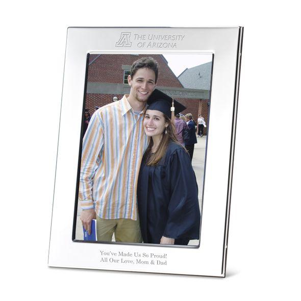 University of Arizona Polished Pewter 5x7 Picture Frame - Image 1