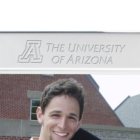 University of Arizona Polished Pewter 5x7 Picture Frame - Image 2