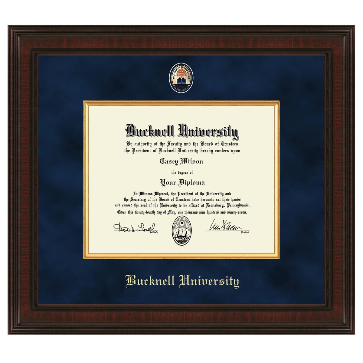 Bucknell University Diploma Frame Excelsior Graduation