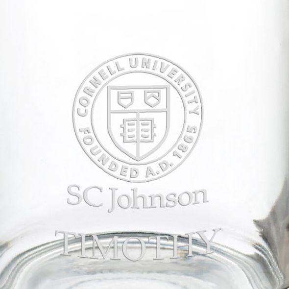 Cornell SC Johnson College of Business 13 oz Glass Coffee Mug - Image 3
