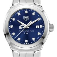 Washington State University Women's TAG Heuer Link with Blue Diamond Dial