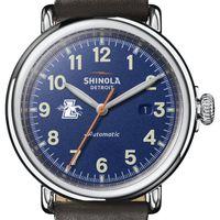 Loyola Shinola Watch, The Runwell Automatic 45mm Royal Blue Dial