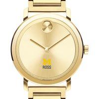 Michigan Ross Men's Movado Bold Gold with Bracelet