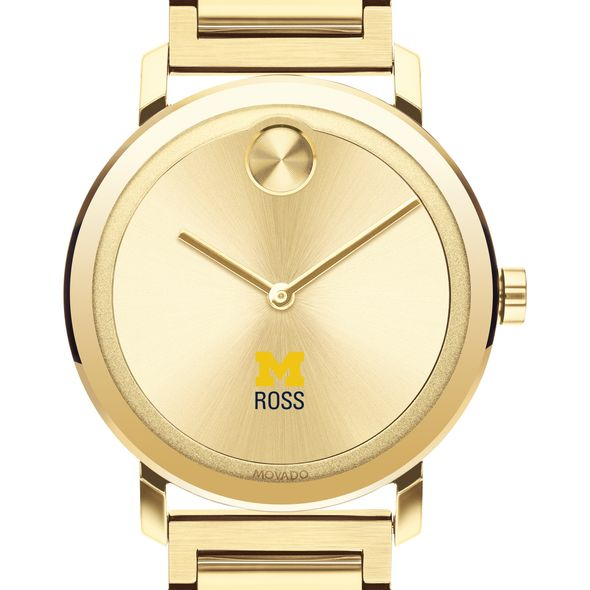 Michigan Ross Men's Movado Bold Gold with Bracelet - Image 1