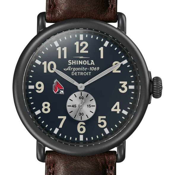 Ball State Shinola Watch, The Runwell 47mm Midnight Blue Dial - Image 1