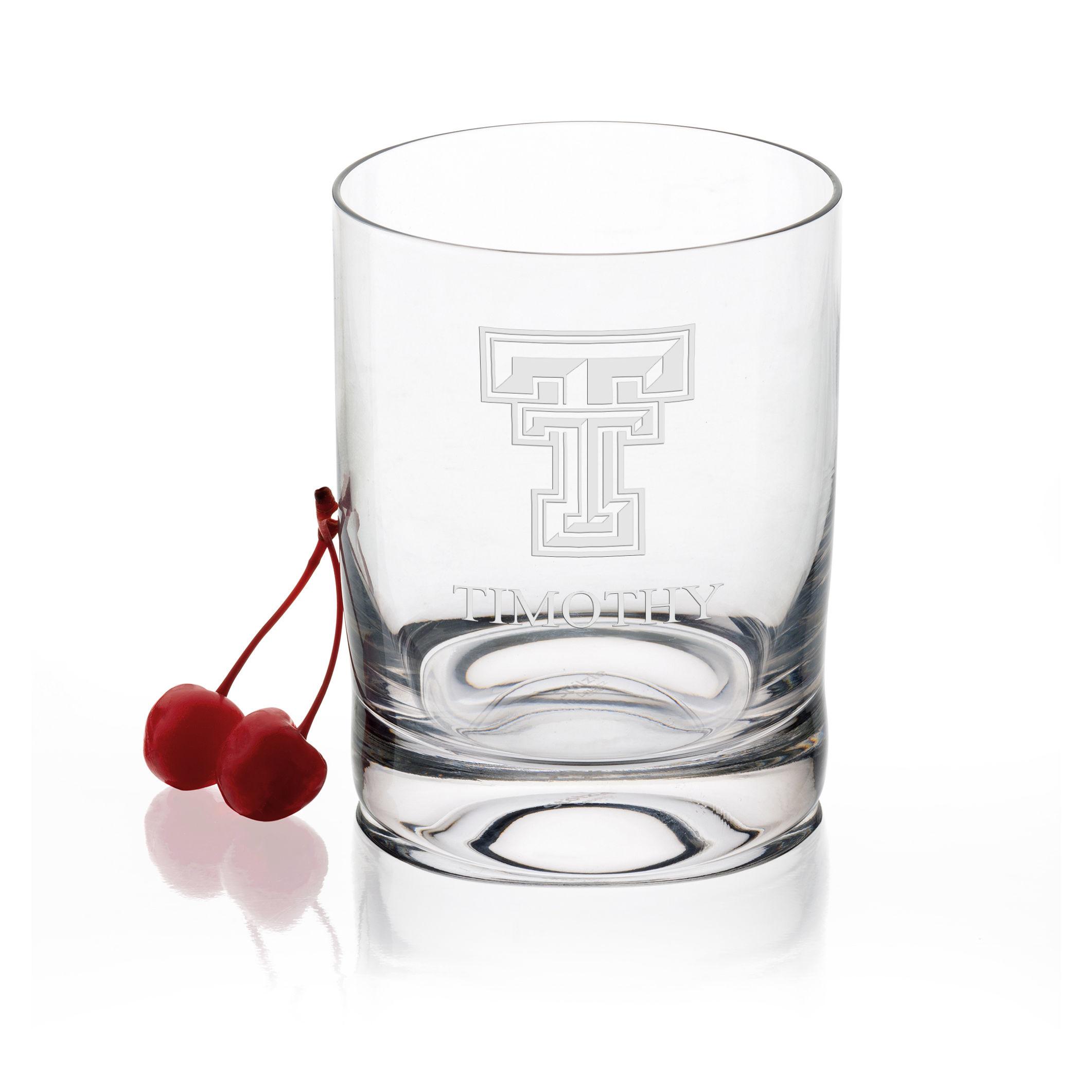 Texas Tech Tumbler Glasses - Set of 4