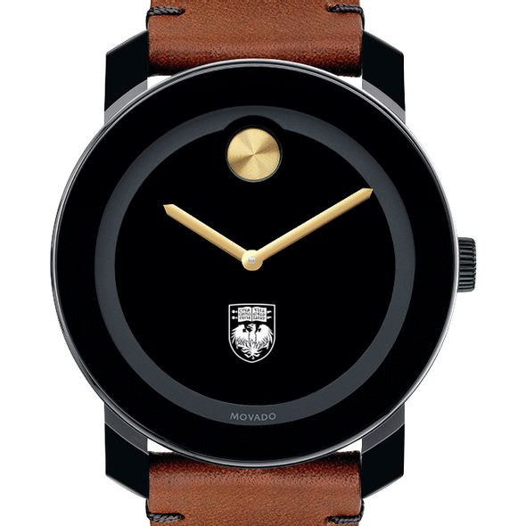 University of Chicago Men's Movado BOLD with Brown Leather Strap - Image 1