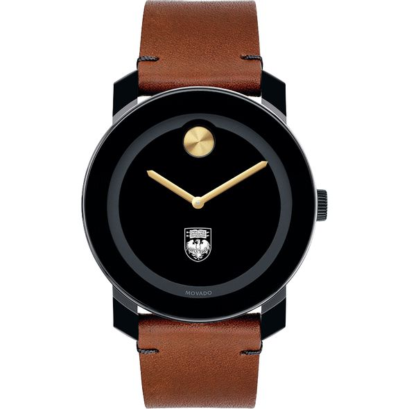 University of Chicago Men's Movado BOLD with Brown Leather Strap - Image 2