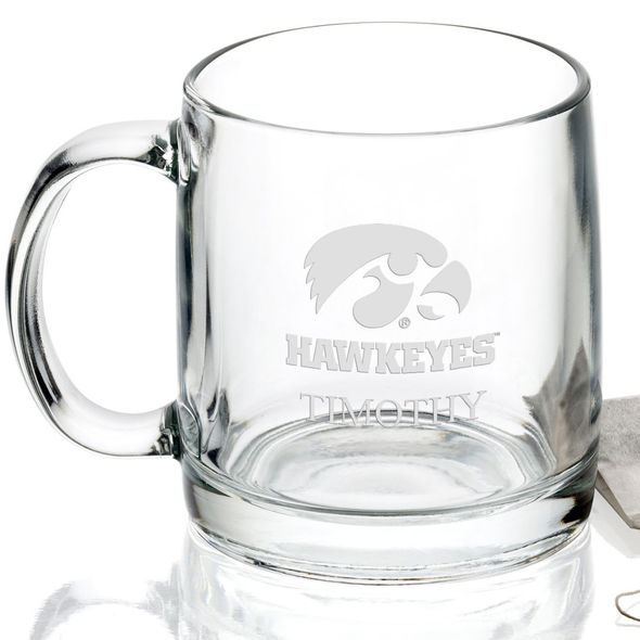 University of Iowa 13 oz Glass Coffee Mug - Image 2
