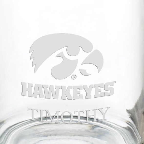 University of Iowa 13 oz Glass Coffee Mug - Image 3
