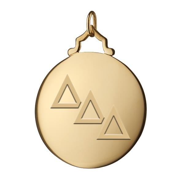DDD Monica Rich Kosann Round Charm in Gold with Stone - Image 2